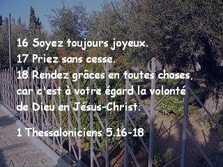 1 Thessaloniciens 5.16-18