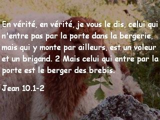 Jean 10.1-2