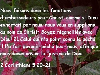 2 Corinthiens 5.20-21