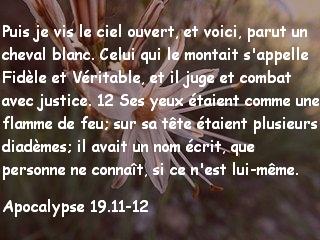 Apocalypse 19.11-12