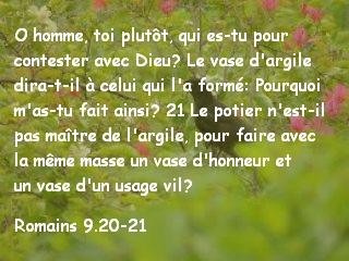 Romains 9.20-21
