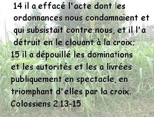 Colossiens 2.13-15