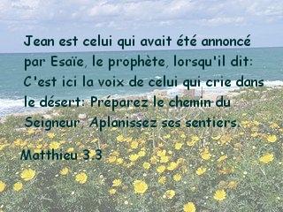 Matthieu 3.3