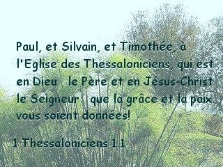 1 Thessaloniciens 1.1