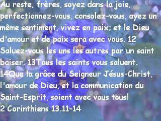2 Corinthiens 13.11-14