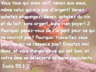 Ésaïe 55.1-2