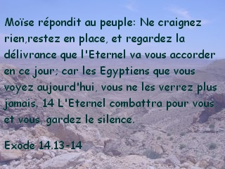Exode 14.13-14