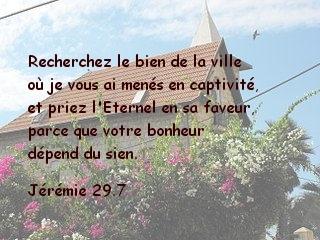Jérémie 29.7