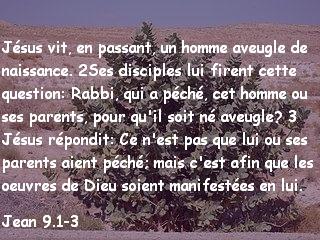 Jean 9.1-3