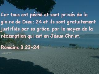 Romains 3.23-24