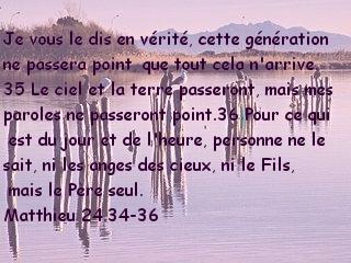 Matthieu 24.34-36